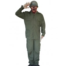 Costume & Mask Zombie Soldier