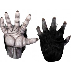 Hands Latex Chimp with Black Fur Pair