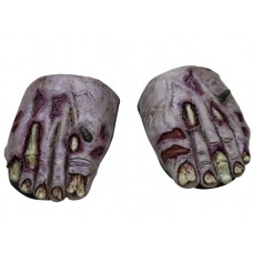 Feet Covers Zombie Undead w Elastic
