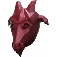 Mask Head Low Poly Art Goat