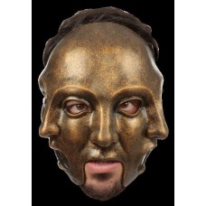 Mask Head Carnival 3 Faces Gold