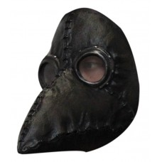 Mask Face Steampunk Plague Doctor Black