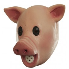Mask Head Humor Squeaky Pig with Sound