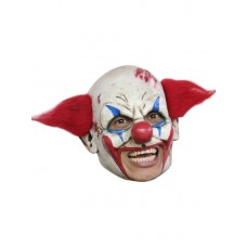 Mask Head Chin Strap Clown Deluxe