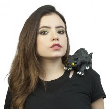 Ghoulish Shoulder Buddy Black Cat