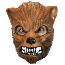 Mask Face Wolf  - Brown