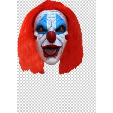 Mask Face with Hair Clown