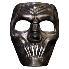 Mask Face Plastic Mouthless Black