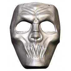 Mask Face Plastic Mouthless Silver