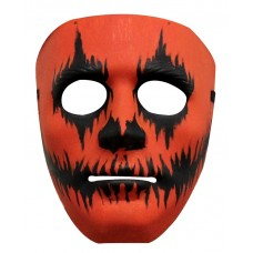 Mask Face Plastic Pumpkin Painted