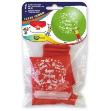 Balloon Printed Happy Birthday Red 65cm