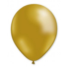 Balloon Metallic 13cm Gold x1000