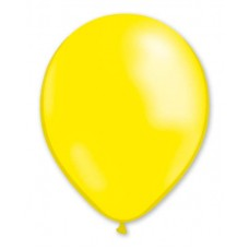Balloon Metallic 13cm Yellow Lemon x1000
