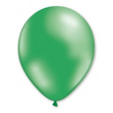 Balloon Metallic 28cm Green Mint x10s