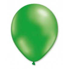 Balloon Metallic Helium 28cm Green x 50