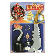 Pirate Set - Hook Sword Patch Ear Ring