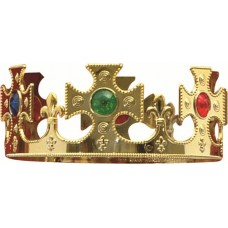 Crown Plastic King Gold with jewels