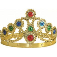 Crown Plastic Queen Gold with jewels