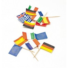 Picks to party Mini Flags assorted 144s