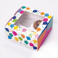 Cup Cake Box for 4 cakes Balloon 2's