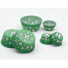Cup Cake Cases Football Small 3x2cm 100