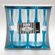 Flutes Tops & Bases Crystal Turquoise 10