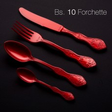 Chic Plastic Knives 20cm Pearl Red 10'