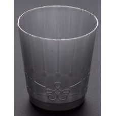 Goblet Pastic Chic 300cc Silver 8's