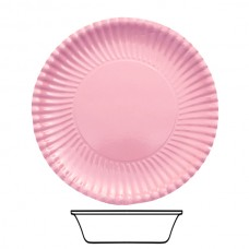 Bowls Card 15cm Pink 10's