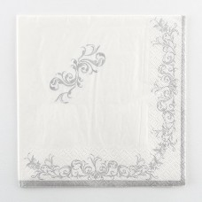 Imperial Silver Napkins 2 ply 25x25cm 20