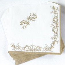 Imperial Gold Napkins 2 ply 25x25cm 20'