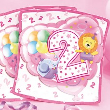 Baby Girl Plates Square Age 2 24cm 10's