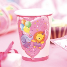 Baby Girl Party Cups Card 250cc 10's