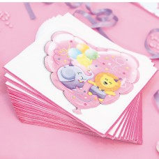 Baby Girl Party Napkins Paper 20's