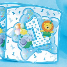 Baby Boy Plates Square Age 1 19cm 10's