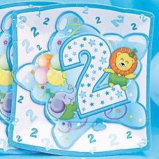 Baby Boy Plates Square Age 2 24cm 10's