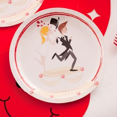 Wedding Humorous Plates Card 18cm 10's