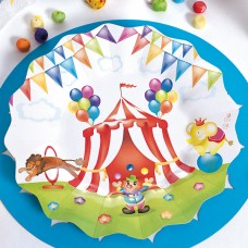 Circus Party Plates Card 27cm 8's