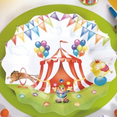 Circus Party Plates Card 21cm 8's