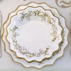 Imperial Gold Bowl Card 24cm 8's