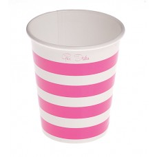 Party Cups Stripe Card 250cc Pink 10's