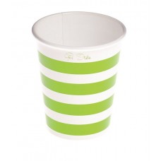Party Cups Stripe Card 250cc Green 10's