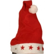 Santa Hat Felt with 5 shapes, no battery
