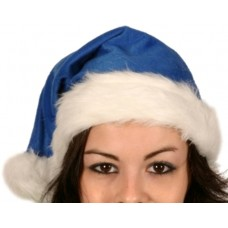 Santa Hat Plush Fine Blue 45cm Long