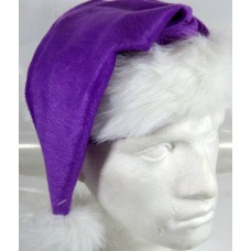 Santa Hat Plush Fine Purple 45cm Long