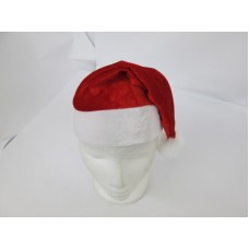 Santa Hat Velvet Red & White 38cm Junior