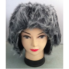 Hair Animal Hood with Grey & Ears