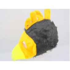 Animal Bird  Hat, Mask & Beak Black & Or