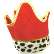 Crown Hat with Ermine Cuff Red