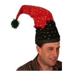 Hat Elf Shaped with Printed Stars & Moon